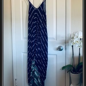Royal Blue Striped Forever 21 Maxi Dress